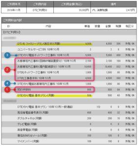 NTT工事費明細