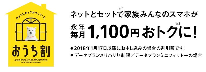 SoftBank光「おうち割 光セット」